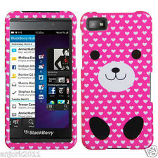 BlackBerry Z10 Laguna Snap-On Case Cover Accessory Pink Dog Love
