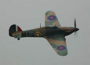 1/7 Scale British WW-II  Hawker Hurricane Plans and Templates 70ws