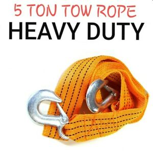 5T 3.6M Tow Towing Pull Rope Strap Heavy Duty Road Recovery Car Van 4x4