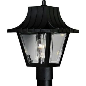 Post Light LED Outdoor Weather Resistant Textured Black Acrylic Panels Lantern
