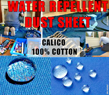 WATER REPELLENT CALICO DUST SHEET FOR PLUMBERS, DECORATORS & HEATING ENGINEERS