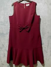 SAVIDA Sleeveless Dress Size 18 Plum Fitted Lined Sheath Work or Occasion Lined