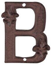 Esschert Design Fonte Numéro de Domicile B Braun Métal Fer Lettre Extension