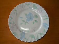 Arcopal France CHLOE Set of 4 Dinner Plates 10 3/4 Scalloped Pink Blue Flowers A