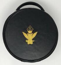 New Scottish Rite 33rd Degree Mason Cap Case In Black with Emblem