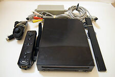 Nintendo Wii Console Video Game System Console BLACK RVL-101 TESTED Free Game