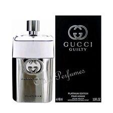Gucci Guilty Platinum For Men Eau de Toilette Spray 3.0oz 90ml * New in Box