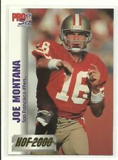 Joe Montana      1992 Pro Set HOF 2000     San Francisco 49ers