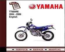 Yamaha TT600RE TT600 RE 2004 - 2006 Workshop Service Repair Manual