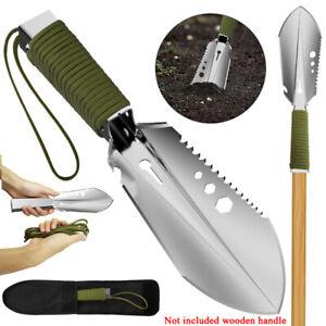 Garden Metal Digging Trowel Knife Bonsai Tool Spade Sawtooth Detector Shovel
