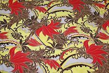 2.5m x 1.5m wide 'ISLAND FUN' FLORAL Print Lycra Fabric - Swimwear, Maxi Dresses