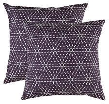 TreeWool Throw Pillowcase Hexagonal Honeycomb Accent Cotton Linen Decorative 18