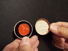 1555 - 1825 Wax Seal of John Hooper - English Martyr - Anglican Bishop