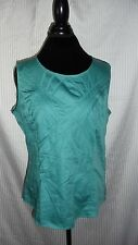 Alex Marie Green Sleeveless Side Zip blouse Women's Size 14 NEW with tags $69