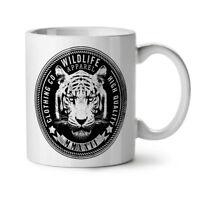 Wildlife Tiger Vintage NEW White Tea Coffee Mug 11 oz   Wellcoda