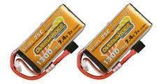 2 x Overlander LiPo Battery 1300mAh 2S cell 7.4v 25C Deans Connector RC Battery