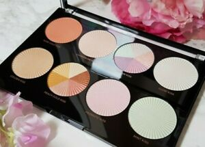 MAKEUP REVOLUTION Pro HD Palette 'Glow Getter' Highlighter Blush Bronzer 8 Shade