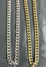 Men's Thick Gold Silver Plated Heavy Link Chain Chunky Curb Hip Hop Necklace NEW