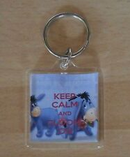 Eeyore - Keep Calm and Gloom On Keyring - Double Sided