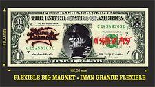 KING DIAMOND IMAN BILLETE 1 DOLLAR BILL MAGNET