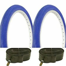 "Two BLUE 20x1.95"" BIKE BICYCLE TRAILER JOGGER TIRES & TUBES BMX"