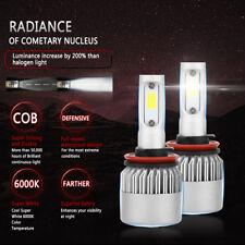 2PCs White LED Headlight Kit H8 H9 H11 180W 18000LM 6000K Low Beam Fog Bulb New