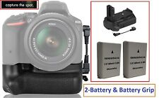 Multi-Power Battery Grip With 2-Pc EN-EL14a Battery For Nikon D3100 D3200