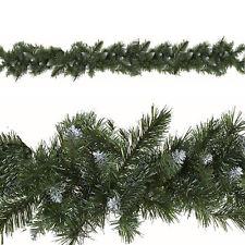 Decoración Navidad - 9ft ARTIFICIAL Guirnalda - 240 NEVADA puntas
