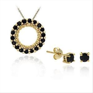 18K Gold/ Sterling Silver Sapphire Pendant Stud Earring