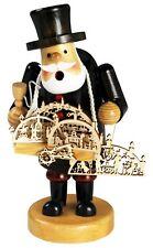 Räuchermännchen Schwibbogenhändler  Rauchfigur Weihnacht 19 cm für Räucherkerzen