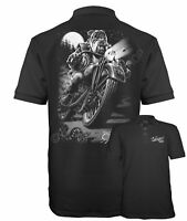 Velocitee Speed Shop Mens Polo Shirt Cats Suck Biker Motorcycle Dog A10533