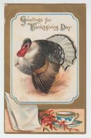[11178] 1909 POSTCARD THANKSGIVING DAY ARTIST SIGNED ELLEN H. CLAPSADDLE