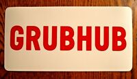 "(1 Pair) GRUBHUB  100% Magnetic CAR VEHICLE SIGNS   6"" x 12"" Food Delivery"