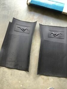 nos 1969-1971 mustang shelby black front pony floor mats Very Rare