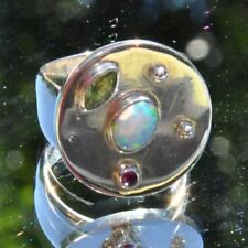Ringe mit Opal Edelsteinen für Damen (7 mm Ø) echten 56