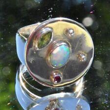 Echtschmuck mit Opal 56 (7 mm) Ø Cabochon