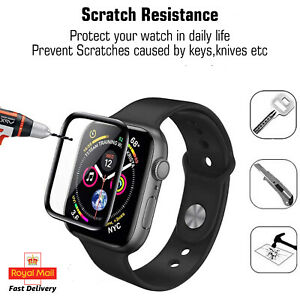 Full Cover Screen Protector Tempered Glass For Apple iWatch Series 1 To 6, SE UK