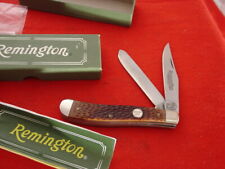 "Remington Made in USA 3-7/8"" R10 2 Blade Trapper Knife MINT IN BOX"