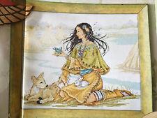 Harmony At Home Joan Elliott Native American Maiden Cross Stitch Chart