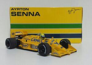 MINICHAMPS 1/18 Model Car F1 Ayrton Senna Lotus 99T Gp Monaco 1987 Diecast