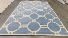 "Blue / Ivory 8' 9"" x 12' slightly damaged rug for reduced price-CHT739B-9"