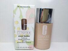 Clinique Even Better Makeup Spf 15 Foundation 1.0 oz Full Size 04 Cream Chamois