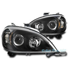 FOR 98-05 MERCEDES-BENZ W163 ML320 ML430 ML55 BLACK PROJECTOR HEADLIGHTS LAMPS
