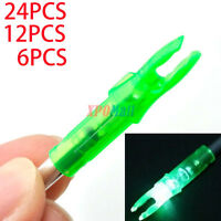 Green led lighted arrow nock for ID 6.2mm compound bow arrows archery hunting