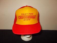 VTG-1980s Tinley Park Oktoberfest Staff Illinois trucker mesh snapback hat sku33