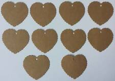 15 Heart shaped Gift Tags/labels with hessian string