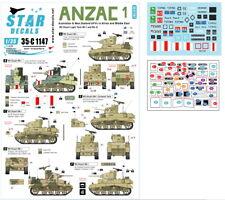 Decals for 1/35 ANZAC #1 - Australian & NZ AFVs M3 Stuart in Mid-East & Africa