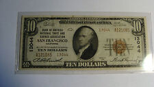 UNITED STATES  - 10 TEN DOLLARS -- 1929 SAN FRANCISCO - NATIONAL CURRENCY