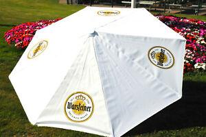 Warsteiner Bier, XXL Gastro Sonnenschirm, Sonnenschutz 250cm Durchm. Weiße Ausfü