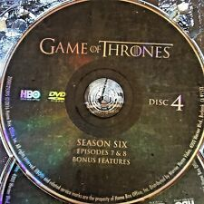 Game of Thrones Season 6 SIX disc 5 Replacement Disc DVD ONLY